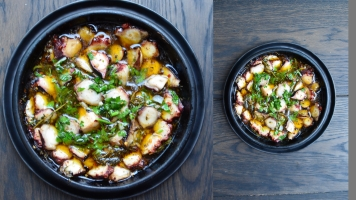 HERBY GRILLED OCTOPUS